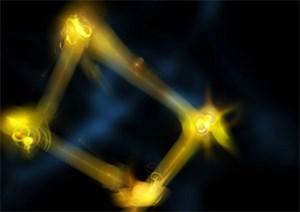 Im Experiment mit zwei verschränkten Photonen-Paaren konnten diese derart manipuliert werden, dass erst später entschieden wurde, in welchem Quantenzustand sich zwei der Lichtteilchen befunden hatten.