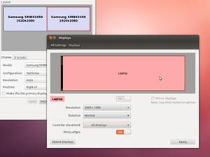 Verbesserungen gibt es bei der Unterstützung von mehreren Monitoren, bei den betreffenden Einstellungen kann nun festgelegt werden, ob der Launcher-Bereich nur auf dem ersten oder auf allen Bildschirmen angezeigt werden soll. Einmal mehr zeigt sich dabei aber die Problematik von Binärtreibern, nutzt man etwa den Treiber von Nvidia ist die Darstellung alles andere als korrekt oder logisch.