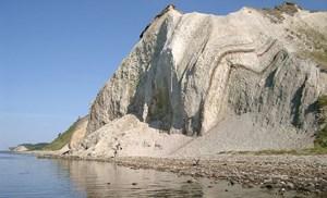 Knudeklint im Nordwesten der Insel Fur.