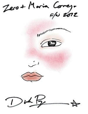 """Eine aktuelle """"Arbeit"""" von Dick Page: Make-up für Zero Maria Cornejo."""