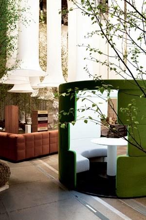"""Die Designtruppe """"Pudelskern"""" entwickelte das Konzept für die Österreich-Präsentation in Mailand."""