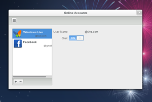 """Die GNOME-Online-Accounts erlauben nun - nach der Google-Anbindung von Fedora 16 - auch die desktopweite Autorisierung für Facebook und Windows Live. Beides wird derzeit aber """"nur"""" für Chat-Aufgaben genutzt."""