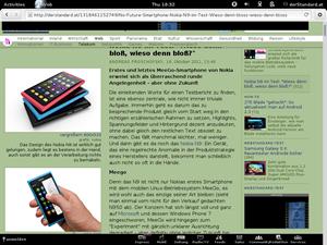 """Zu einer immer interessanteren - und vor allem sehr schlanken - Alternative entwickelt sich der GNOME-Browser Epiphany, der mit der neuen Version nach außen nur mehr unter dem schlichten Namen """"Web"""" firmiert."""