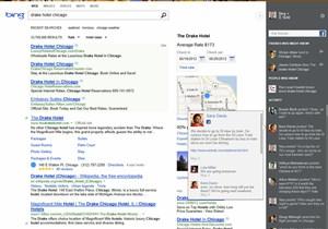 """Das """"neue"""" Bing will mit der Integration zahlreicher sozialer Netzwerke Konkurrent Google übertrumpfen."""