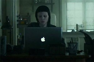 "Apple im David-Fincher-Film ""The Girl with the Dragon Tattoo""."