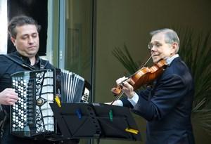 Das Ensemble Klezmer bei der Gedenkfeier.
