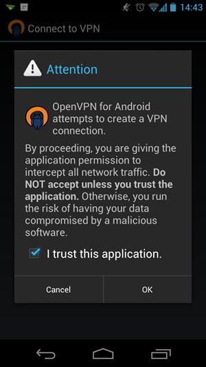 OpenVPN für Android - jetzt ganz ohne Root-Rechte, Android 4.0 allerdings vorausgesetzt.