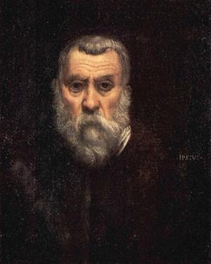 """Als """"Testat von Todesnähe und Verzweiflung"""" beschrieb Jean-Paul Sartre dieses Selbstbildnis des alten Tintoretto (entstanden um 1585). Die Leihgabe aus dem Pariser Louvre ist eines von vierzig Meisterwerken, die derzeit in Rom ausgestellt sind."""