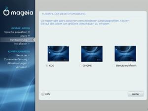"""Mageia gibt sich betont neutral in Desktop-Fragen, die beiden """"Großen"""" KDE und GNOME stehen gleichberechtigt zur Wahl, einen Klick weiter gibt es aber noch zahlreiche andere Lösungen."""