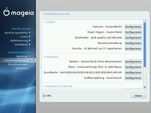 Der DVD-Installer von Mageia ist sehr gut gelungen: Bis auf einige wenige Eckdaten wird alles automatisch konfiguriert, die NutzerInnen dürfen aber manuelle Korrekturen vornehmen - so sie das denn wollen.