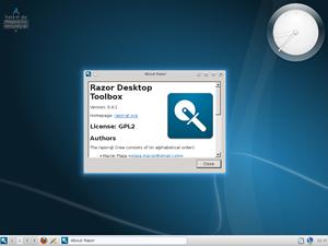 Einer der verfügbaren Desktops ist der noch recht junge Razor-qt, der eine leichtgewichtige Alternative zu KDE bieten soll.