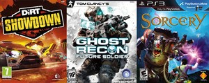 """DiRT Showdown"", ""Ghost Recon: Future Soldier"", ""Sorcery"""
