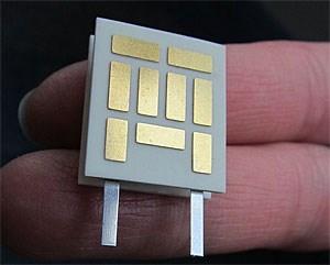Der neu entwickelte thermoelektrische Generator aus Nano-Silizium.