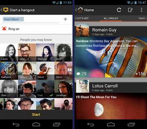 Die neue Google+-App für Android stellt Fotos in den Mittelpunkt.