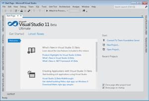 """Visual Studio 11: Die Entwicklung von 2klassischen"""" Desktop-Anwendungen ist der kostenpflichtigen Ausgabe der Software vorbehalten."""