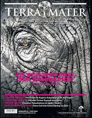 "Blickt zu den Quellen des Nils: Elefant auf ""Terra Mater"" Nummer 1."