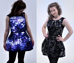 Das Little Slide Dress leuchtet in dunklen Umgebungen.
