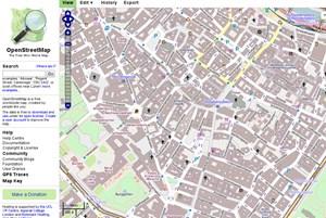 OpenStreetMaps unter Kritik von der kommerziellen Kritik.