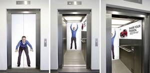 Branding in Aufzügen