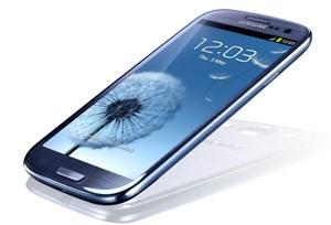 """Probleme mit der Beschichtung verzögern die Auslieferung des Galaxy S 3 """"Pebble Blue""""."""