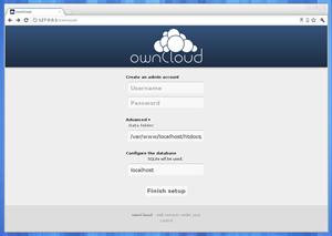 Die anfängliche Konfiguration von ownCloud am eigenen Server ist in wenigen Klick erledigt.
