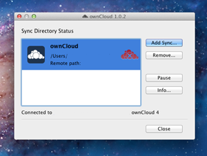 Der Mac-Client für ownCloud kümmert sich um den Abgleich beliebiger Verzeichnisse. Das Tool gibt es auch für Windows und Linux.
