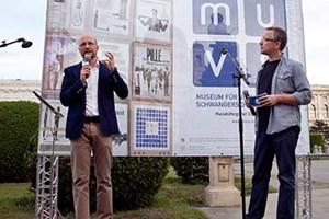 Christian Fiala berichtete über die Entstehungsgeschichte des Museums. Im Ausland hoch angesehen, kämpft das Museum in Österreich immer noch um (finanzielle) Anerkennung.