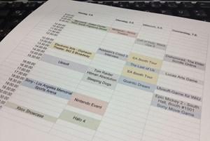 Der (vorläufige) E3-Terminkalender. Wer entdeckt den Fehler?