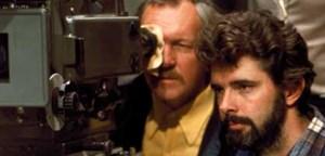 """Muss das im Weltall spielen?"" George Lucas (re.) bestand, obwohl zwei Studios ""Star Wars"" abwinkten."