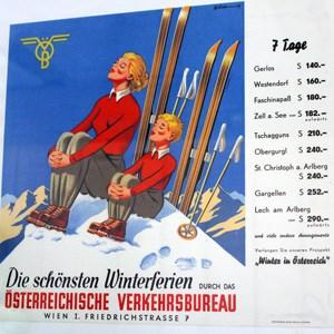 """""""Als der Urlaub noch leistbar war"""" - Martin Gleitsmann hat in seinem Büro alte Werbeplakate ausgestellt."""