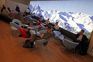 Sechs Millionen Euro hat die AUA in den Ausbau ihrer sechs neuen Lounges am neuen Terminal investiert. Betreiber ist Do & Co. F.