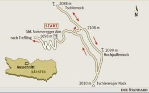 Gesamtgehzeit 4 ½ Stunden, Höhendifferenz rund 600 m. Kein Stützpunkt auf der Runde. Gasthaus beim Ausgangspunkt. ÖK25V Blatt 3105-Ost (Millstatt).