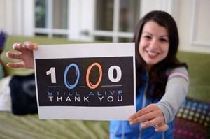 Anita Sarkeesian bedankt sich bei ihren ersten 1.000 Unterstützern.