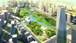 Pläne für die grüne Zukunft: Wohn- und Bürohochhäuser am Rande des Central Parks. Eines Tages sollen hier 70.000 Menschen leben.