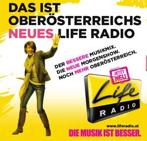 """Andy Hohenwarter und Constanze Hill betreuen die neu gestaltete """"Life Radio""""-Morgenshow."""