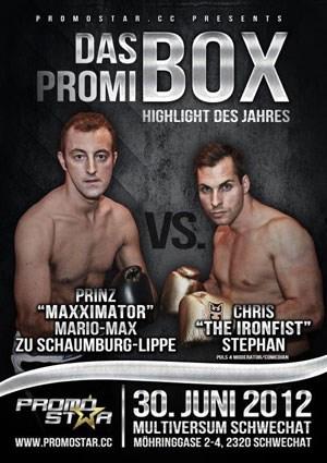 Das offizielle Veranstaltungsplakat des Promi-Boxens. Bei dem Event fighten aber auch richtige Weltmeister.