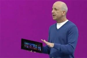 """Ein """"Ups"""" entkam dem Windows-Chef, als das Tablet nicht wollte, wie es sollte"""