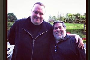 Auf seinem Instagram Account postet Kim Dotcom ein Foto von sich mit Steve Wozniak