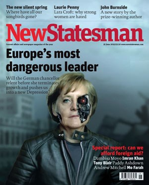 Angela Merkel am Cover des britischen Blattes.