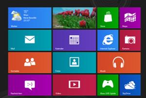 Metro-Startscreen