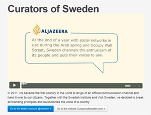"""""""Curators of Sweden"""": Die schwedische Twitter-Kampagne gewann einen Cyber-Grand-Prix - >>> mehr zur Kampagne"""