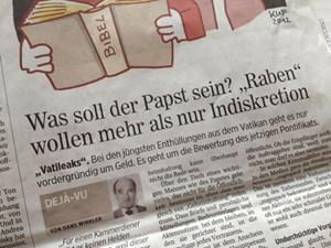 """Wenn sich im """"Presse""""-Kommentar tatsächlich alle wichtigen Argumente finden, die ein Kircheninsider zur Beschönigung der aktuellen Papst-Krise aufbringen kann, dann sieht es mit der Verteidigungslinie ziemlich traurig aus."""