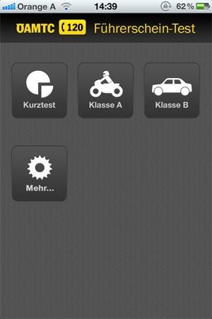 Mit der Führerschein-App können sich Fahranfänger gut auf die Prüfung vorbereiten