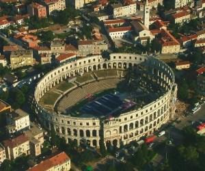 Kaum eine antike Arena ist so gut erhalten wie jene in Pula, deren Bau vor 1.944 Jahren fertiggestellt wurde.