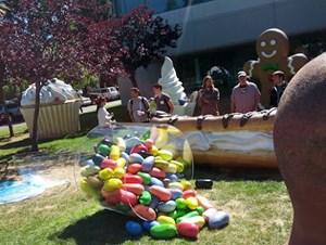 """""""Jelly Bean"""" ist da, und gesellt sich zu den Vorgängern Cupcake, Donut, Eclair, Gingerbread und Co. vor dem Googleplex in Mountain View."""