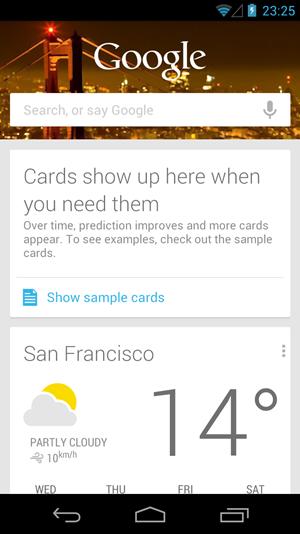 """Google Now ist potentiell eines der Highlight von """"Jelly Bean"""", derzeit beschränkt sich dessen tatsächliche Nützlichkeit aber noch auf einen sehr engen Bereich."""