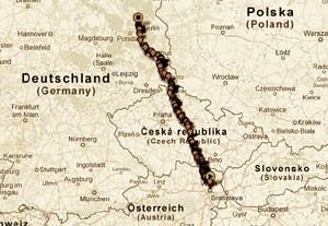 """Die Distanzfahrt Wien - Berlin 2012 ist als Testlauf für das kommende Jahr gedacht. Acht """"Controllstationen"""" gilt es dabei zu passieren. """"Wir wollen diese Orte anfahren und je nach Gelegenheit dem Bäck, der Apothekerin, der Postlerin oder dem Kellner einen Stempel für unser Kontrollheftchen abluchsen"""", so die Initiatoren."""