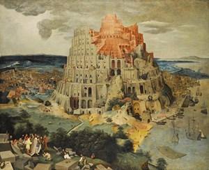 """Den Prototyp des """"Turmbau zu Babel"""" schuf Pieter Brueghel der Ältere 1563 (zu sehen im Kunsthistorischen Museum in Wien). Daran orientierte sich rund 30 Jahre später sein Sohn Pieter Brueghel (der Jüngere), als er diese Version schuf, die am 4. Juli bei Sotheby's in London versteigert wird (Taxe: 2 bis 3 Millionen Pfund bzw. umgerechnet 2,5 bis 3,7 Millionen Euro)."""