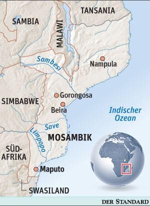 Beira liegt im Nordosten Mosambiks.