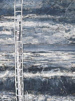 """Anselm Kiefers Werk """"Am Anfang"""" (Detail) stammt, wie alle anderen 38 ausgestellten Werke, aus dem Privatbesitz der Familie Grothe."""